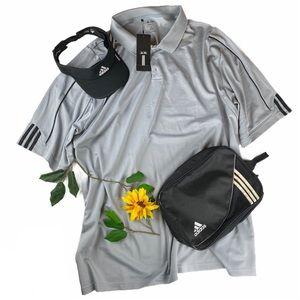 NWT Adidas Golf Climalite Solid Polo Shirt 4XL